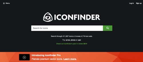 Sitios web donde descargar iconos en formato SVG: Iconfinder