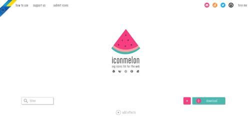 Sitios web donde descargar iconos en formato SVG: Iconmelon