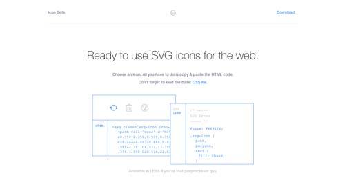 Sitios web donde descargar iconos en formato SVG: Icon Sets