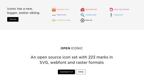 Sitios web donde descargar iconos en formato SVG: Open Iconic