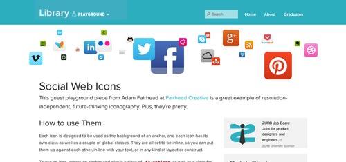 Sitios web donde descargar iconos en formato SVG: Social Icons