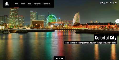Temas WordPress premium para fotógrafos: DK for Photography