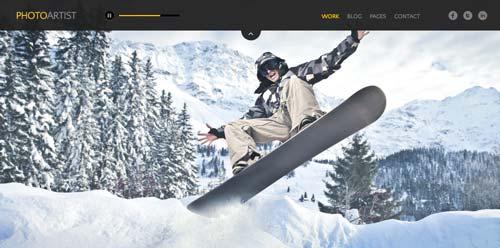 Temas WordPress premium para fotógrafos: Photo Artist