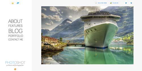 Temas WordPress premium para fotógrafos: Photoshot