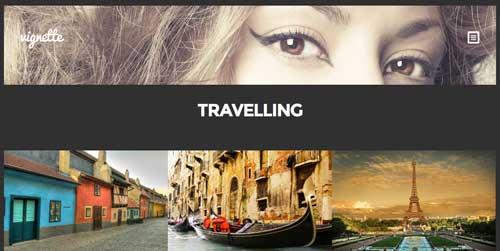 Temas WordPress premium para fotógrafos: Vignette