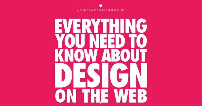Ejemplos de uso de tipografía de gran tamaño: Everything Design