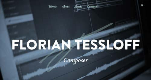 Ejemplos de uso de tipografía de gran tamaño: Florian Tessloff