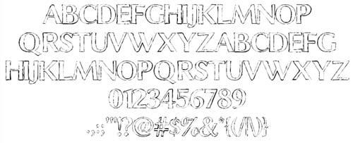 Tipografias gratis con efecto de tiza: Chalk Line Outline