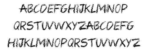 Tipografias gratis con efecto de tiza: Colored Crayons