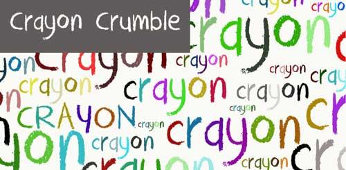 Tipografias gratis con efecto de tiza: Crayon Crumble