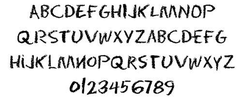 Tipografias gratis con efecto de tiza: Eraser