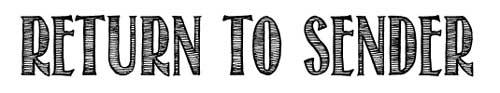 Tipografias gratis con efecto de tiza: Return to Sender