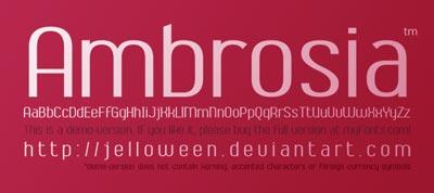 Tipografias gratis adecuadas para títulos: Ambrosia