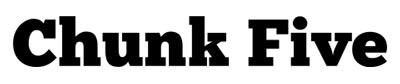 Tipografias gratis adecuadas para títulos: Chunk Five