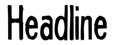 Tipografias gratis adecuadas para títulos: Headline