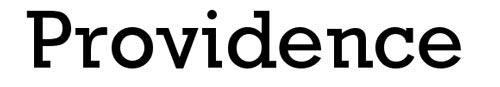 Tipografias gratis adecuadas para títulos: Providence