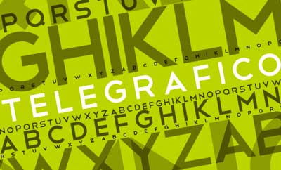 Tipografias gratis adecuadas para títulos: Telegrafico