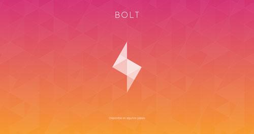 Uso efectivo de gradientes en páginas de destino: Bolt