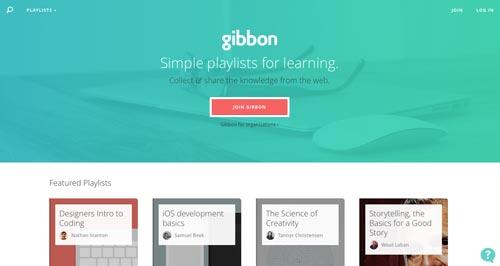 Uso efectivo de gradientes en páginas de destino: Gibbon