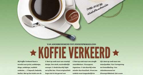 Uso efectivo de gradientes en páginas de destino: Koffie Verkeerd
