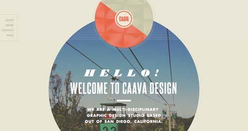 Ejemplos de tipografías para títulos: Caava Design
