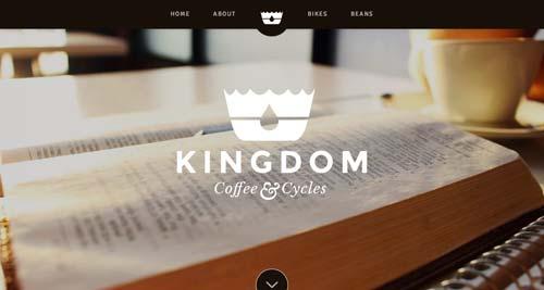 Ejemplos de tipografías para títulos: Kingdom Coffee & Cycles
