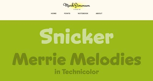 Ejemplos de tipografías para títulos: Mark Simonson