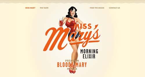 Ejemplos de tipografías para títulos: Miss Mary's Morning Elixir