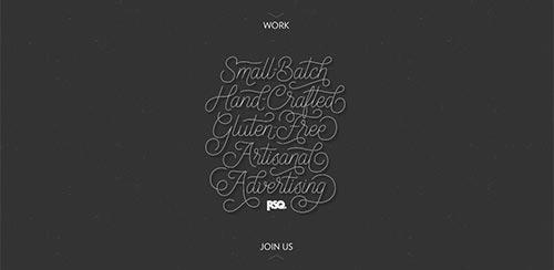 Ejemplos de tipografías para títulos: RSQ