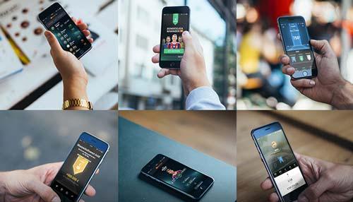 Archivos PSD gratuitos de dispositivos para tus prototipos de aplicaciones:  6 Photorealistic iPhone 6 Mockups