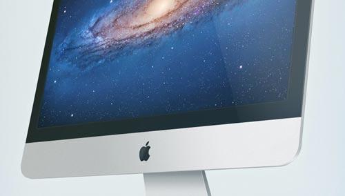 Archivos PSD gratuitos de dispositivos Apple para tus prototipos de aplicaciones: iMac psd