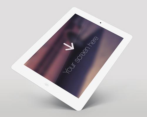 Archivos PSD gratuitos de dispositivos Apple para tus prototipos de aplicaciones:  Free iPad White Angle PSD