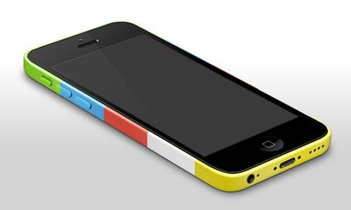 Archivos PSD gratuitos de dispositivos para tus prototipos de aplicaciones: iPhone 5c template