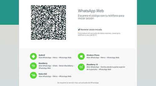 Pasos para instalar WhatsApp Web: Escanear código QR