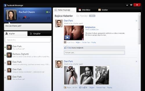 Conceptos de nuevo diseño de Facebook: Facebook Messenger de SencerBugrahan