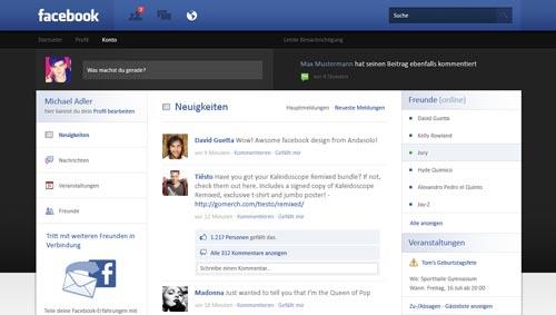 Conceptos de nuevo diseño de Facebook: Facebook Re-design de Andasolo