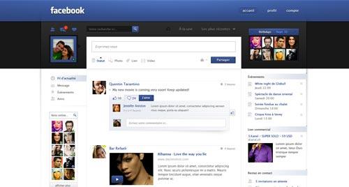 Conceptos de nuevo diseño de Facebook: Facebook Redesign de Jonaska