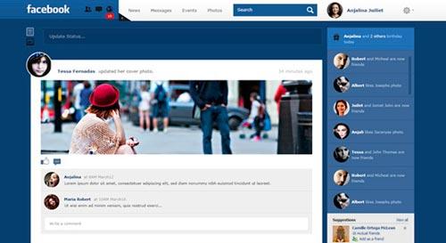 Conceptos de nuevo diseño de Facebook: Facebook Redesign Concept de Monish