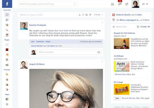 Conceptos de nuevo diseño de Facebook: Facebook Redesign de Goksel Vancin