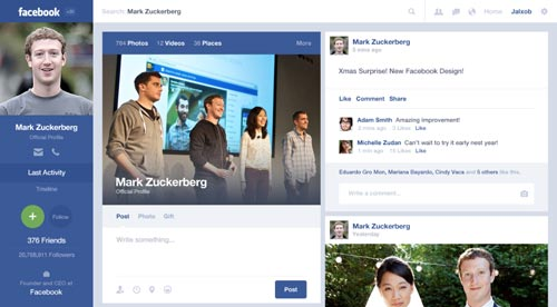 Conceptos de nuevo diseño de Facebook: Facebook Timeline Concept de Alex Osorio