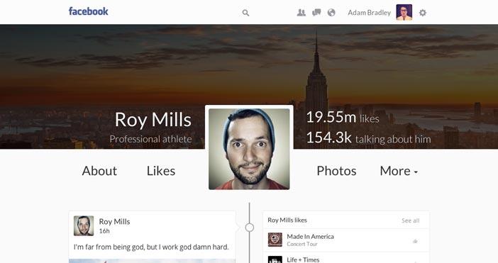 Conceptos de nuevo diseño de Facebook: Facebook Timeline Concept de Vitalijs Silkins