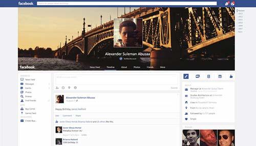 Conceptos de nuevo diseño de Facebook: Facebook Website Redesign de Alexander Abusaa