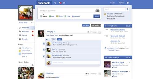 Conceptos de nuevo diseño de Facebook: The Facebook Redesign Project de Hellclanner