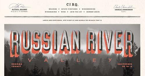 Ejemplos de paginas web de bodegas de vino: Cirq.