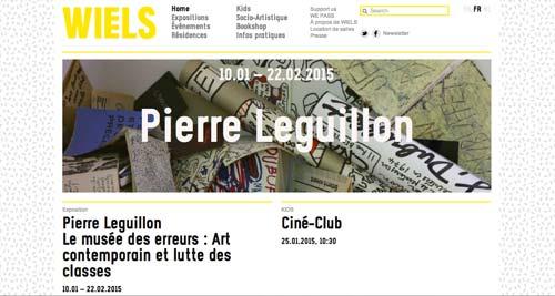 Ejemplos de paginas web de museos y galerías de arte: Wiels