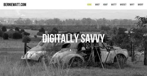 Ejemplos de paginas web de redactores creativos: Bernie Watt
