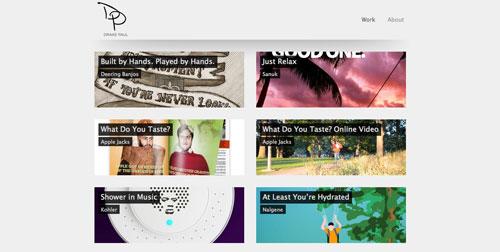 Ejemplos de paginas web de redactores creativos: Drake Paul