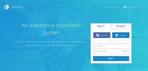 Ejemplos de sitios web que hacen uso del color azul: Cronnection