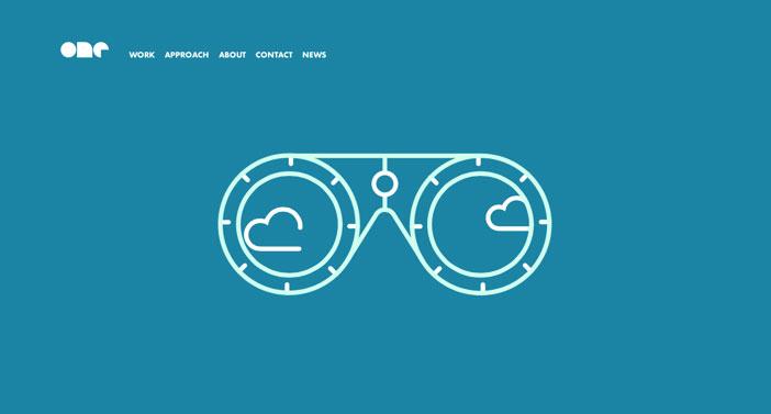 Ejemplos de sitios web que hacen uso del color azul: One Design Company