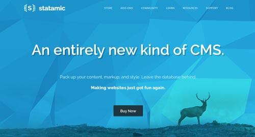 Ejemplos de sitios web que hacen uso del color azul: Statamic